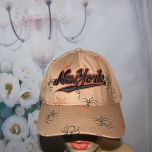 New York Halloween Hat Fall Colors and Spiders NEW